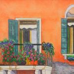 """French Window"" watercolor on paper, 12.5""x15"", $175, Reproductions available"
