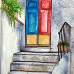 """Italian Door Way"" watercolor on paper, $175, Reproductions available"