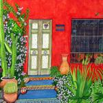 """Spanish Country House"" watercolor on paper, $295, Reproductions available"